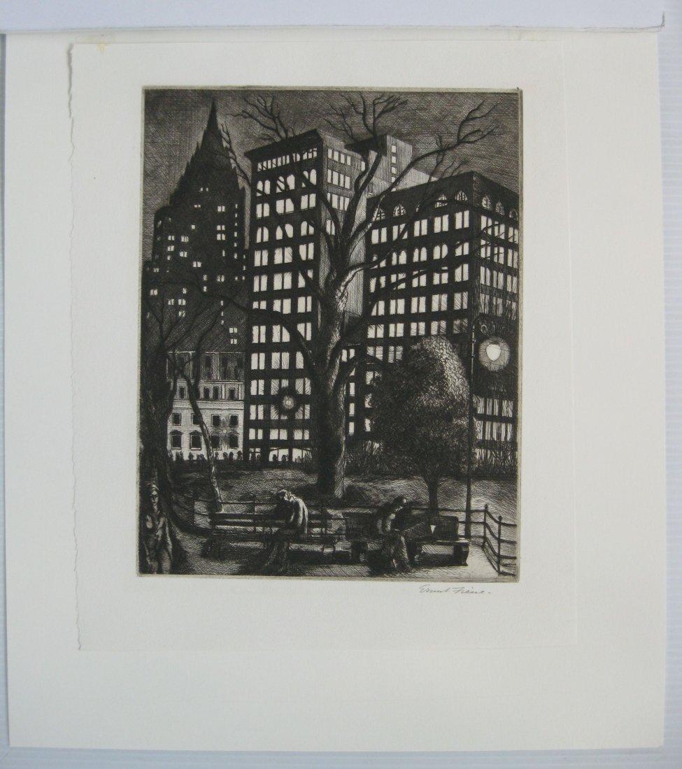 Ernest Fiene etching - 2