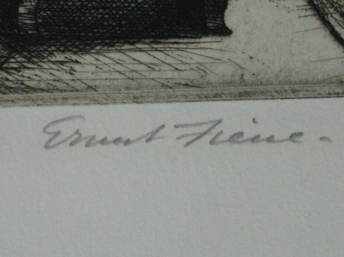 Ernest Fiene etching - 3