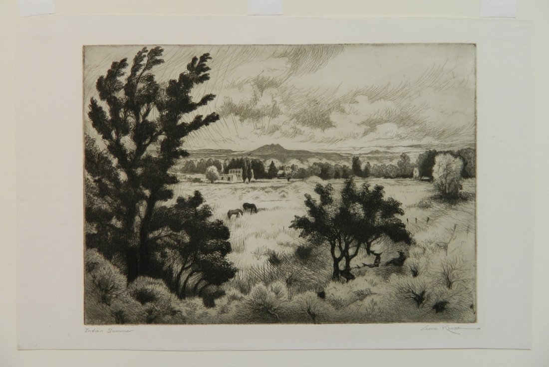 Gene Kloss etching - 2