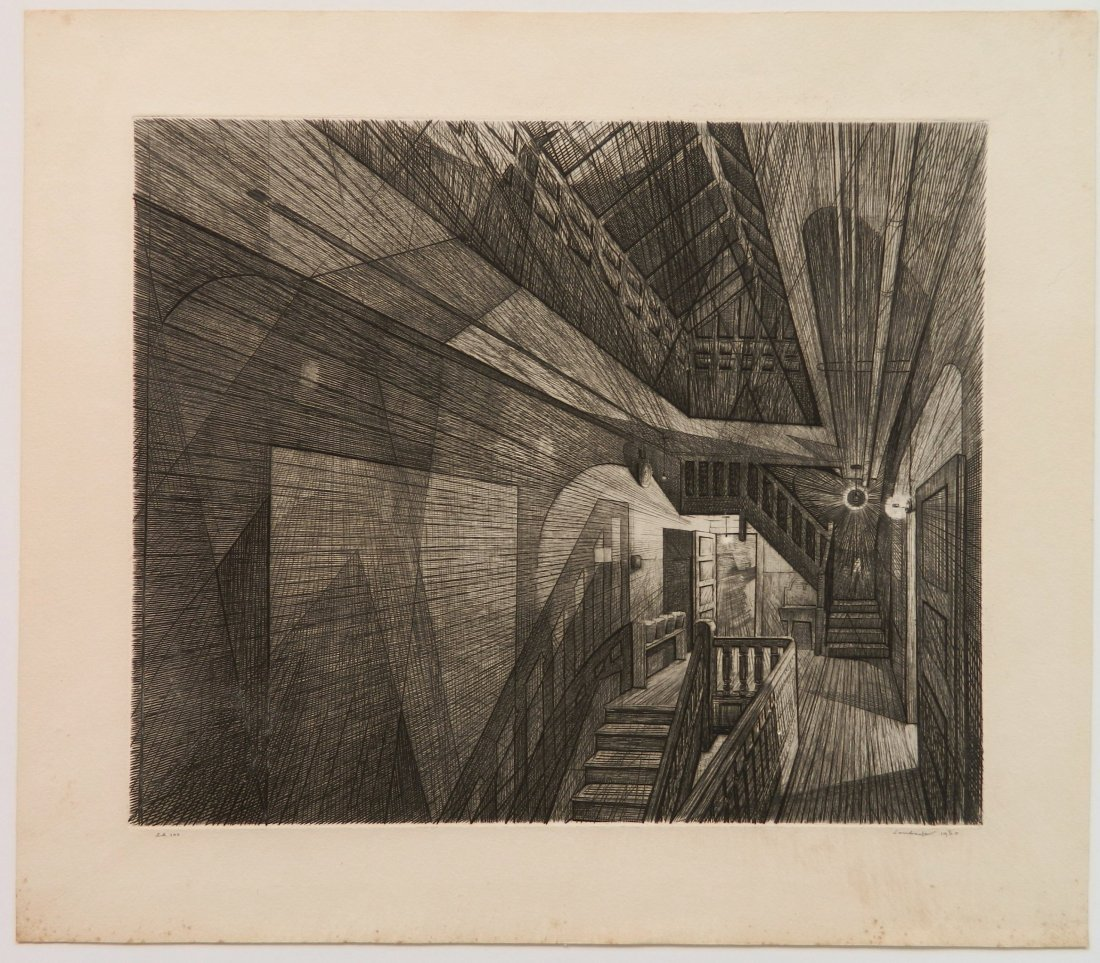Armin Landeck drypoint and engraving - 2