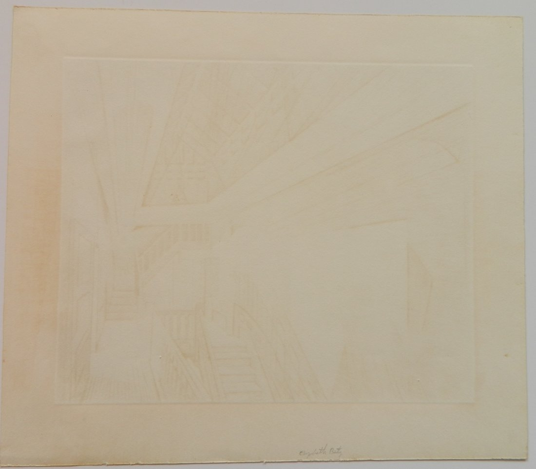 Armin Landeck drypoint and engraving - 4