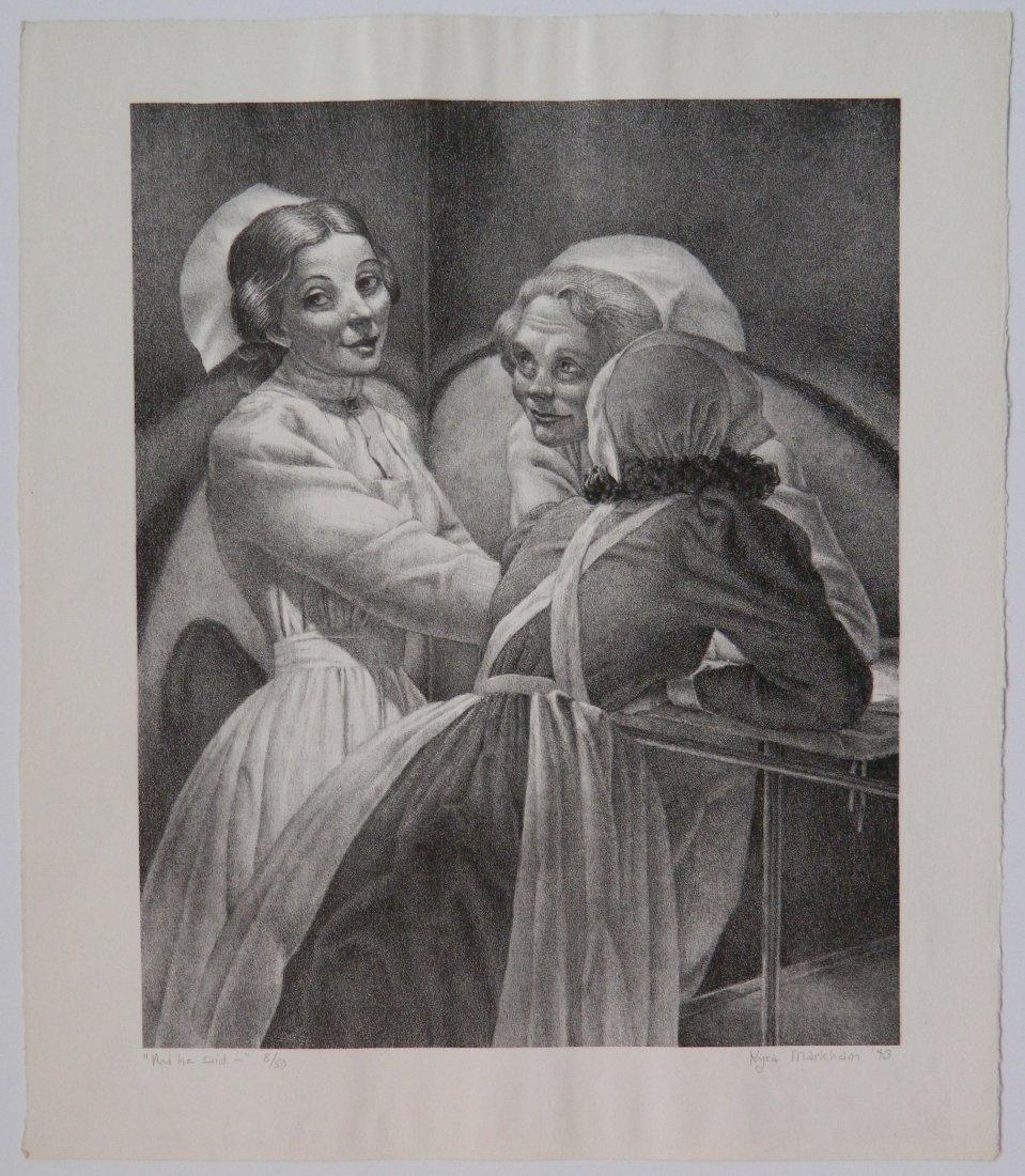 Kyra Markham lithograph - 2