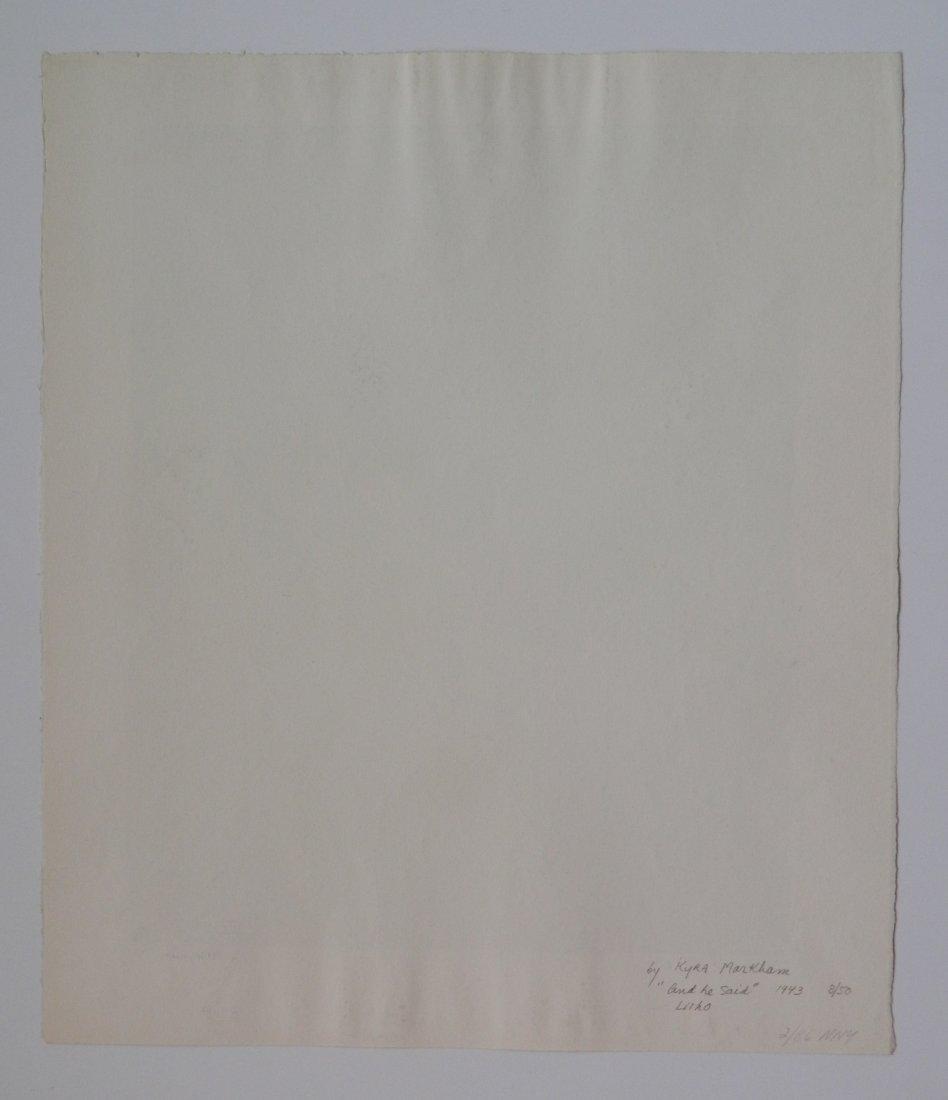 Kyra Markham lithograph - 4
