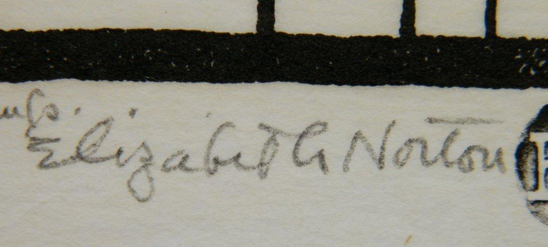 Elizabeth Norton woodcut - 3