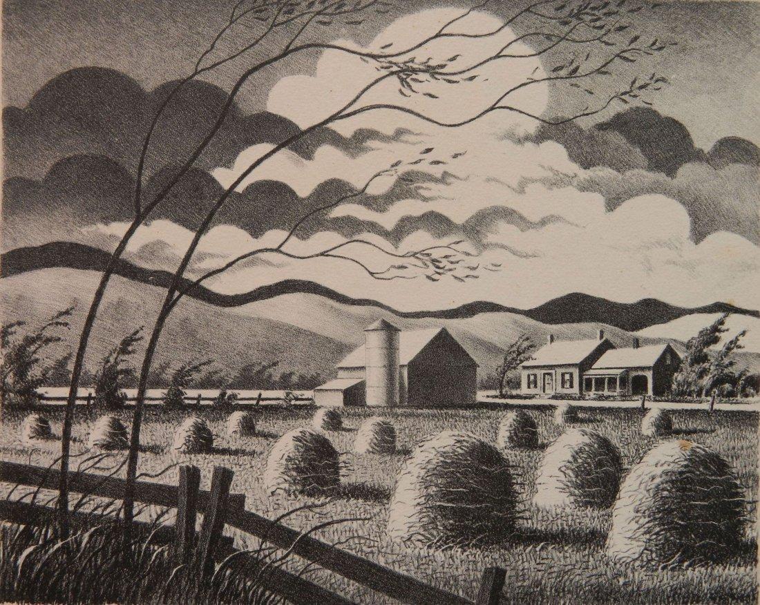 Edward Sanborn lithograph