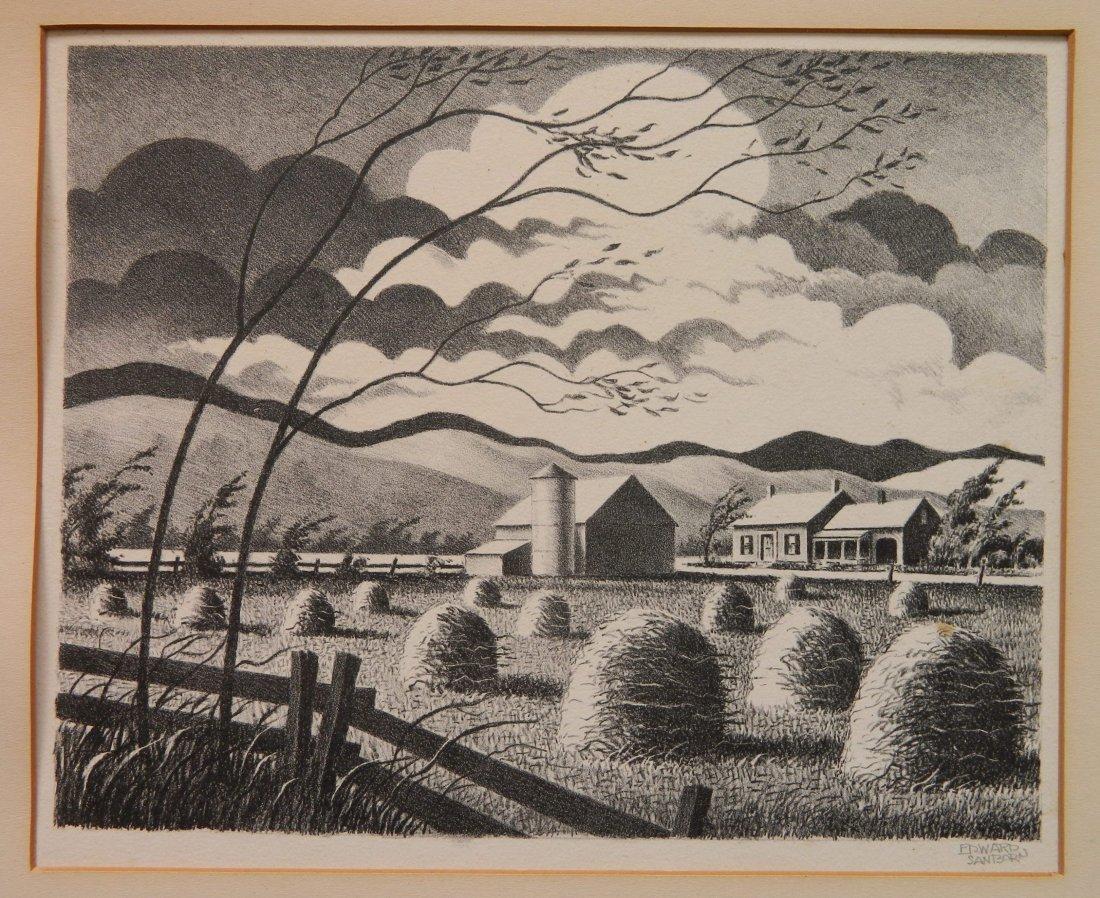 Edward Sanborn lithograph - 2