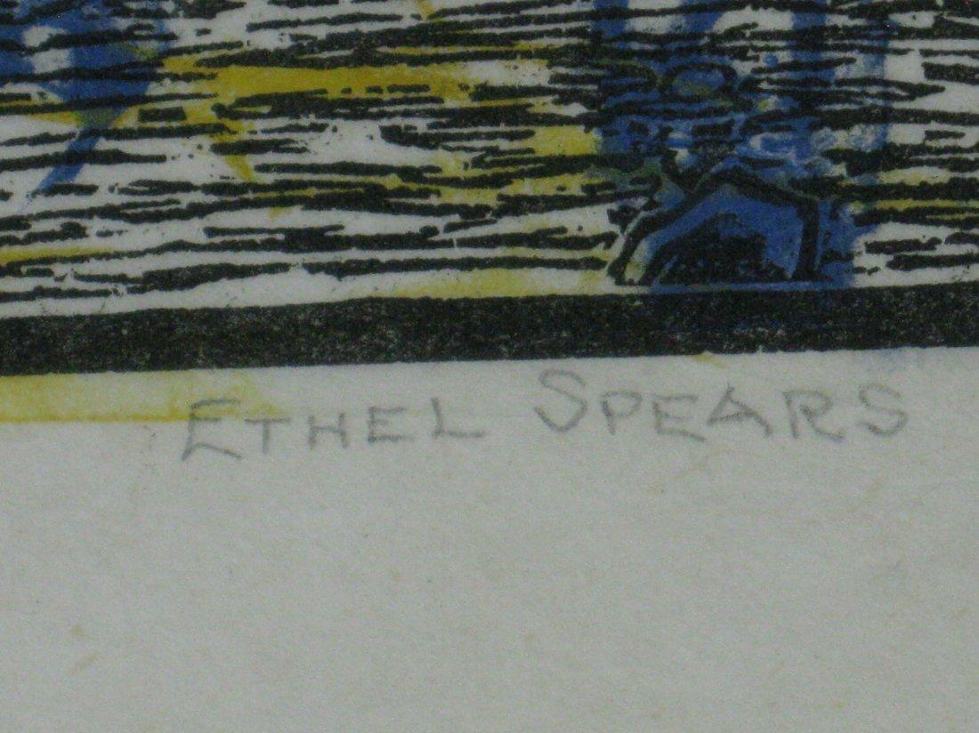 Ethel Spears woodcut - 3