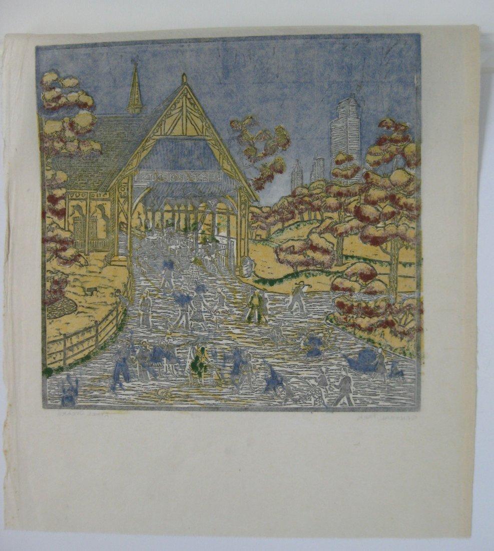 Ethel Spears woodcut - 4