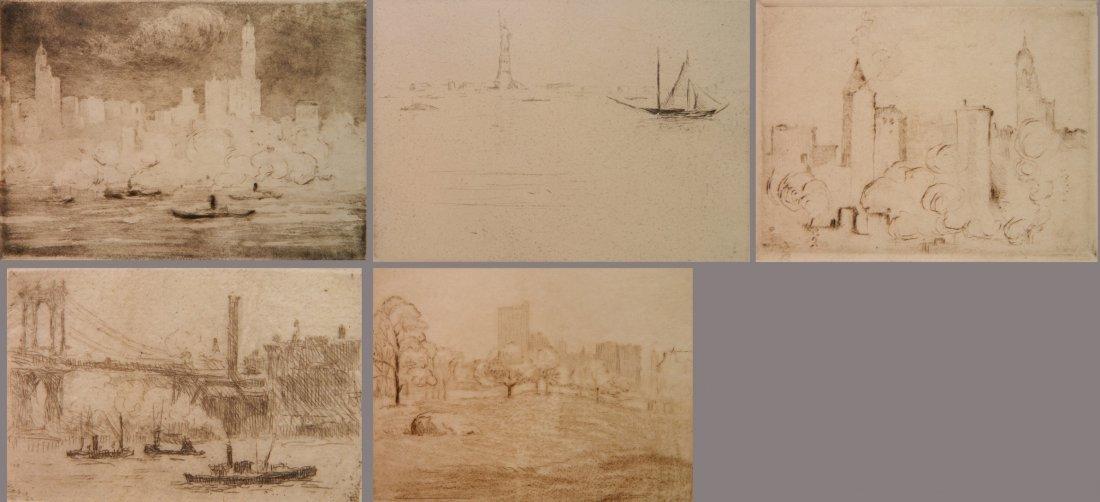 Herman Struck 5 etchings
