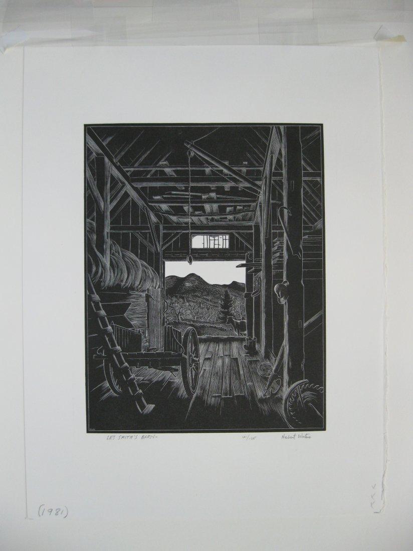 Herbert Waters wood engraving - 2