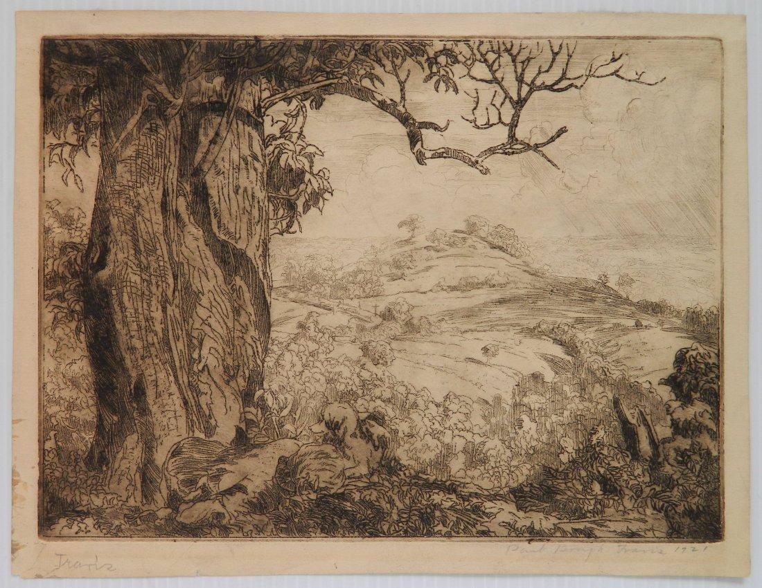 Paul Bough Travis etching - 2