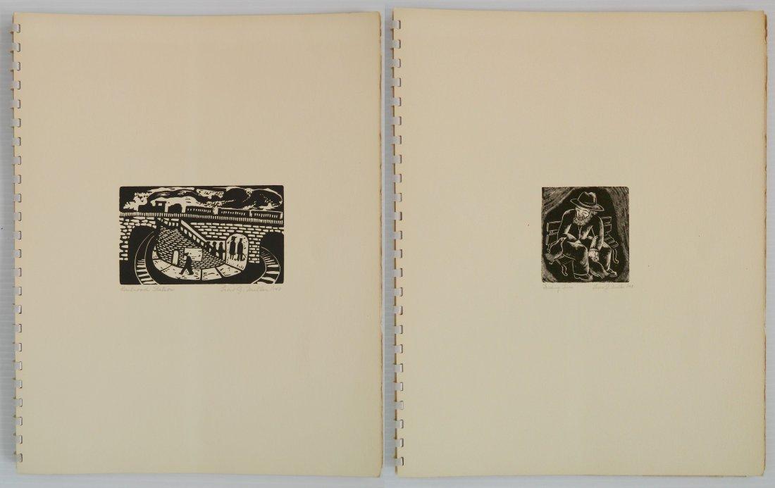 Leon Gordon Miller- ''10 Intaglio Prints'' - 3