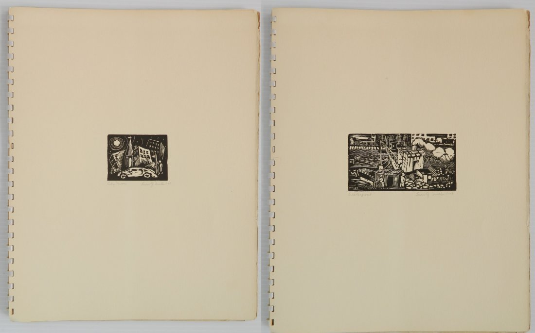 Leon Gordon Miller- ''10 Intaglio Prints'' - 7