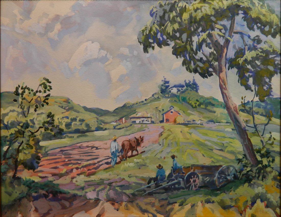 Frank N. Wilcox watercolor