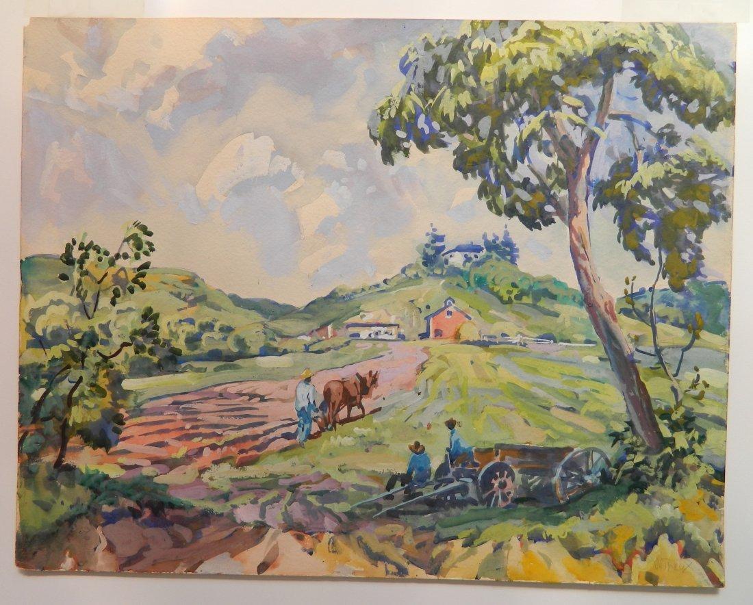 Frank N. Wilcox watercolor - 2
