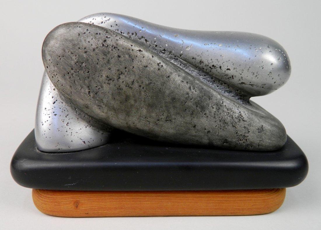 Charles Herndon aluminum on slate sculpture