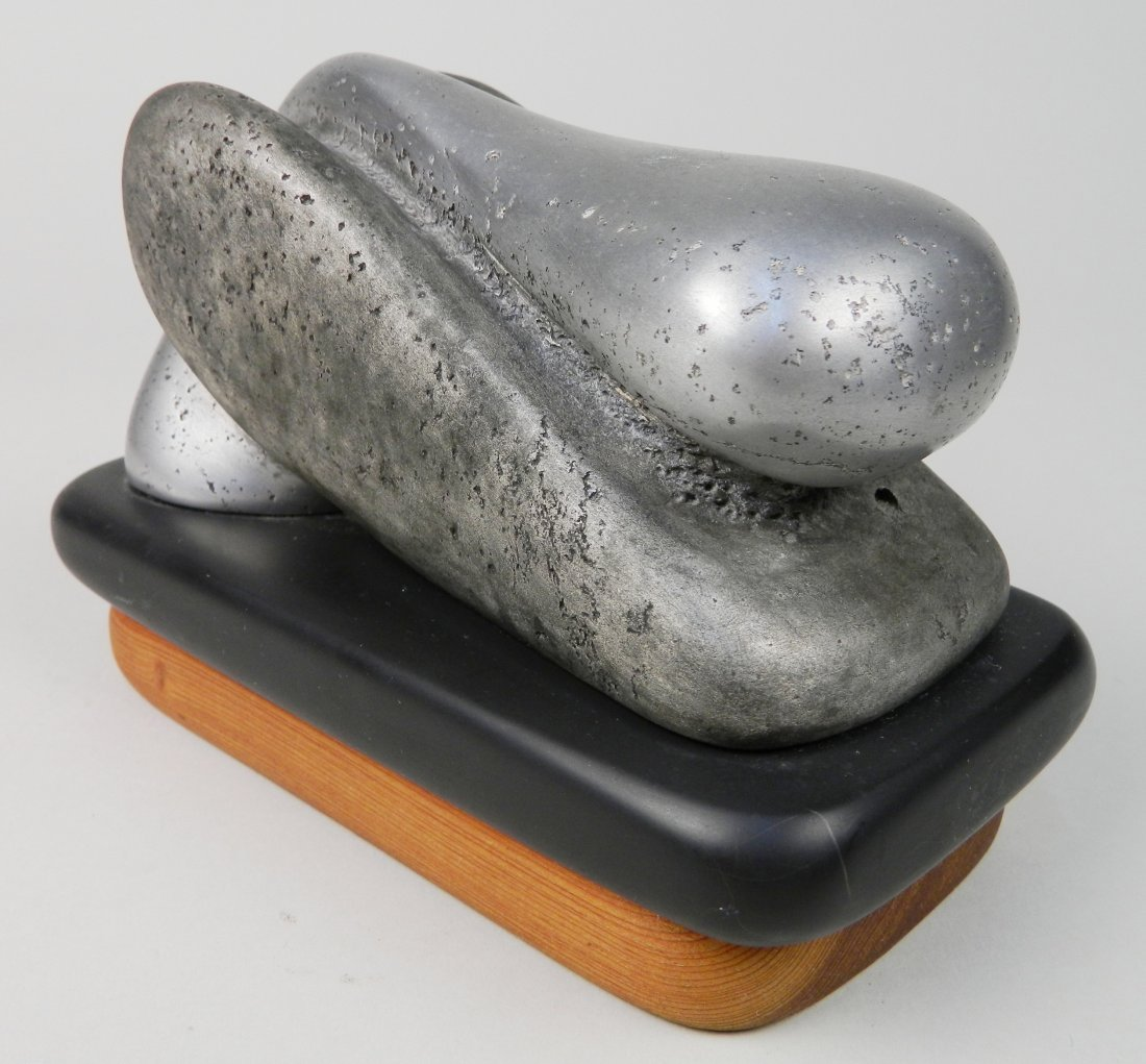 Charles Herndon aluminum on slate sculpture - 2