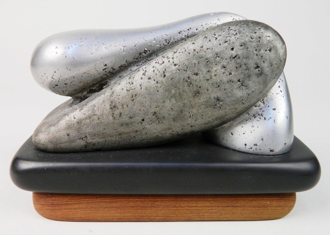 Charles Herndon aluminum on slate sculpture - 4
