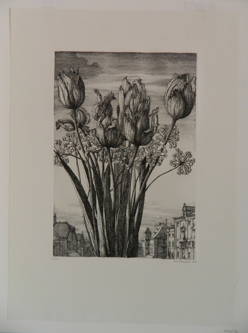 Erik Desmazieres etching - 2