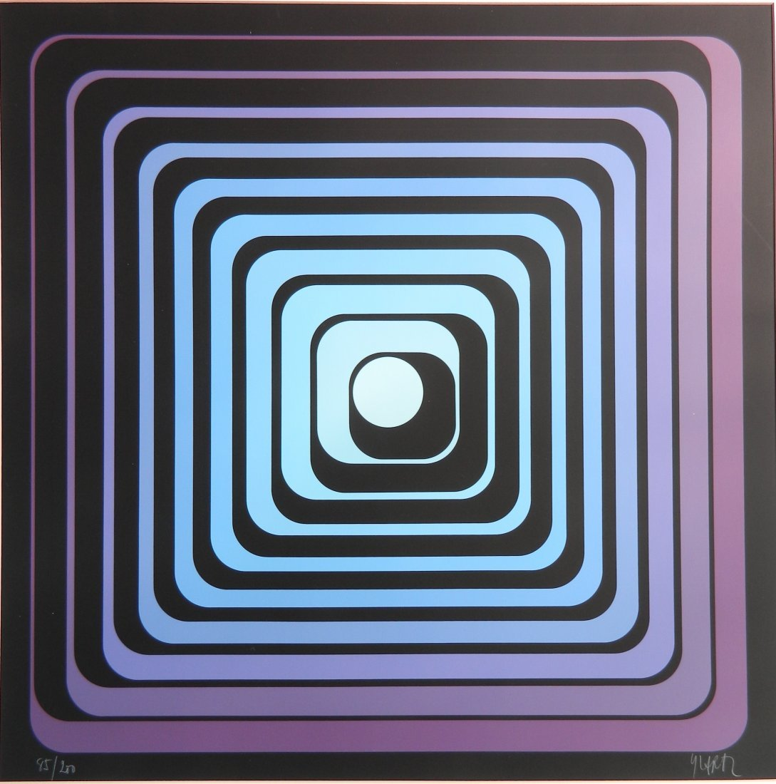 Jean Pierre (Yvaral) Vasarely silkscreen