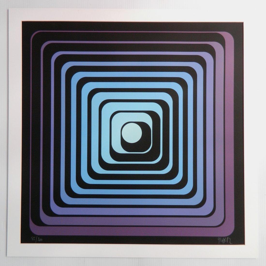 Jean Pierre (Yvaral) Vasarely silkscreen - 2
