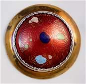 Kenneth Bates copper enamel brooch