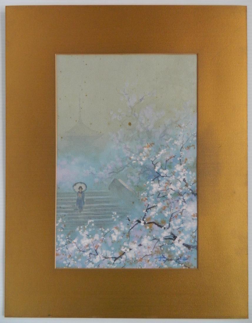 20th c. Japanese School 2 watercolors - 3