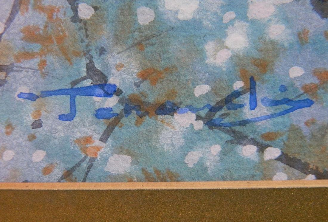 20th c. Japanese School 2 watercolors - 4
