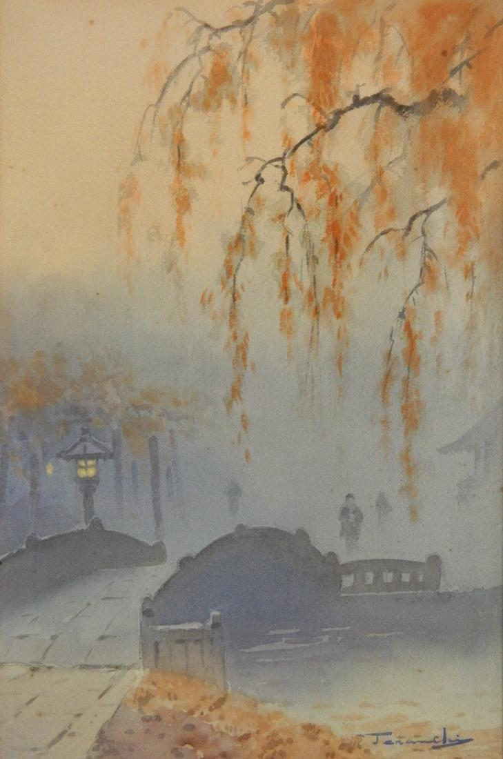 20th c. Japanese School 2 watercolors - 6