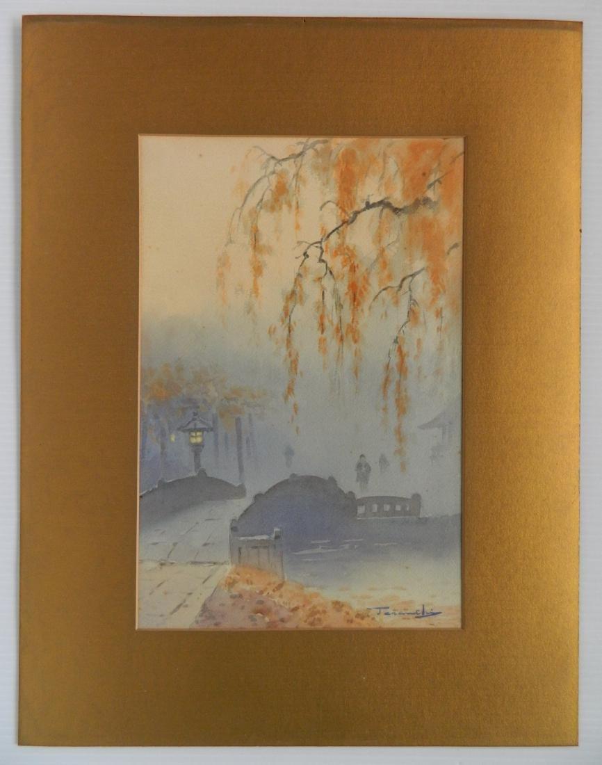 20th c. Japanese School 2 watercolors - 7