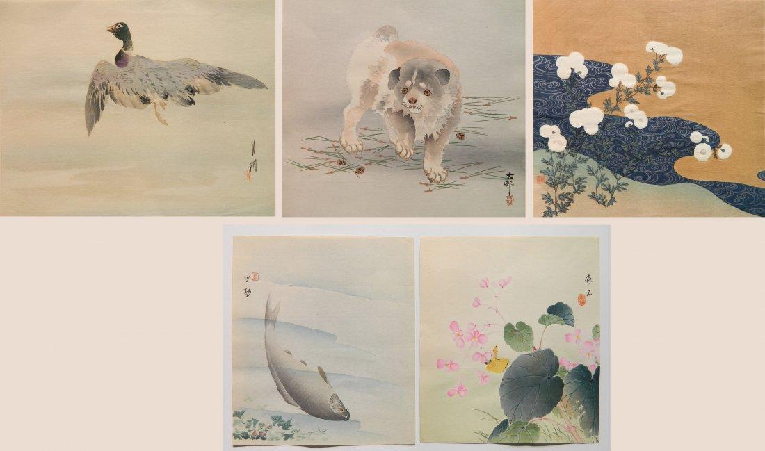 5 Japanese Shin Hanga woodcuts