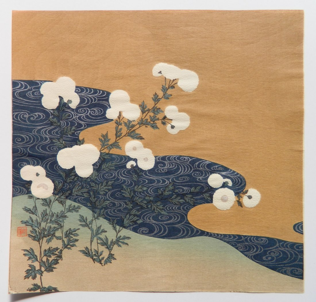 5 Japanese Shin Hanga woodcuts - 4