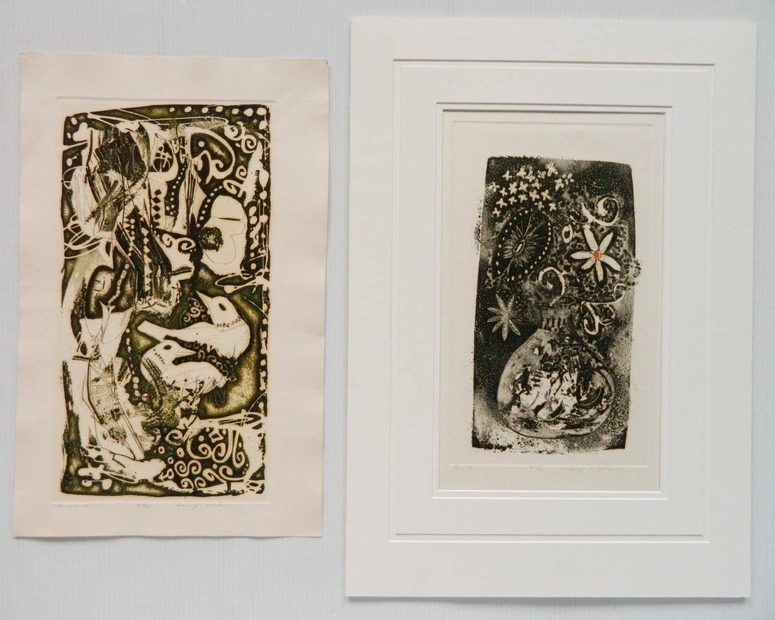 Kenji Ushiku 2 etchings