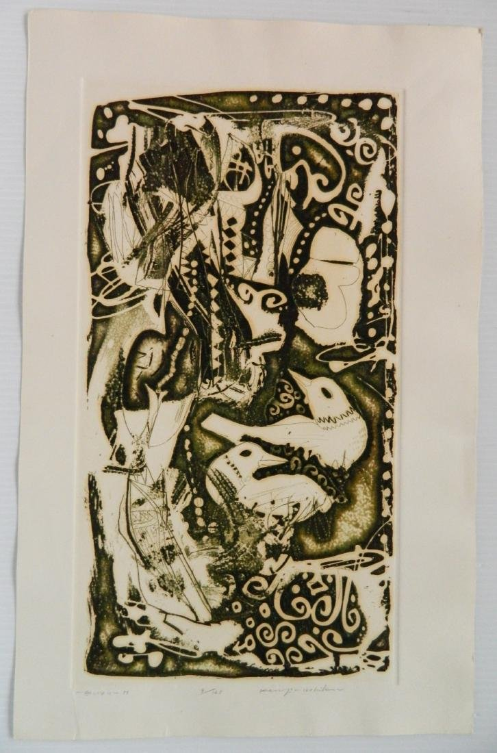 Kenji Ushiku 2 etchings - 2
