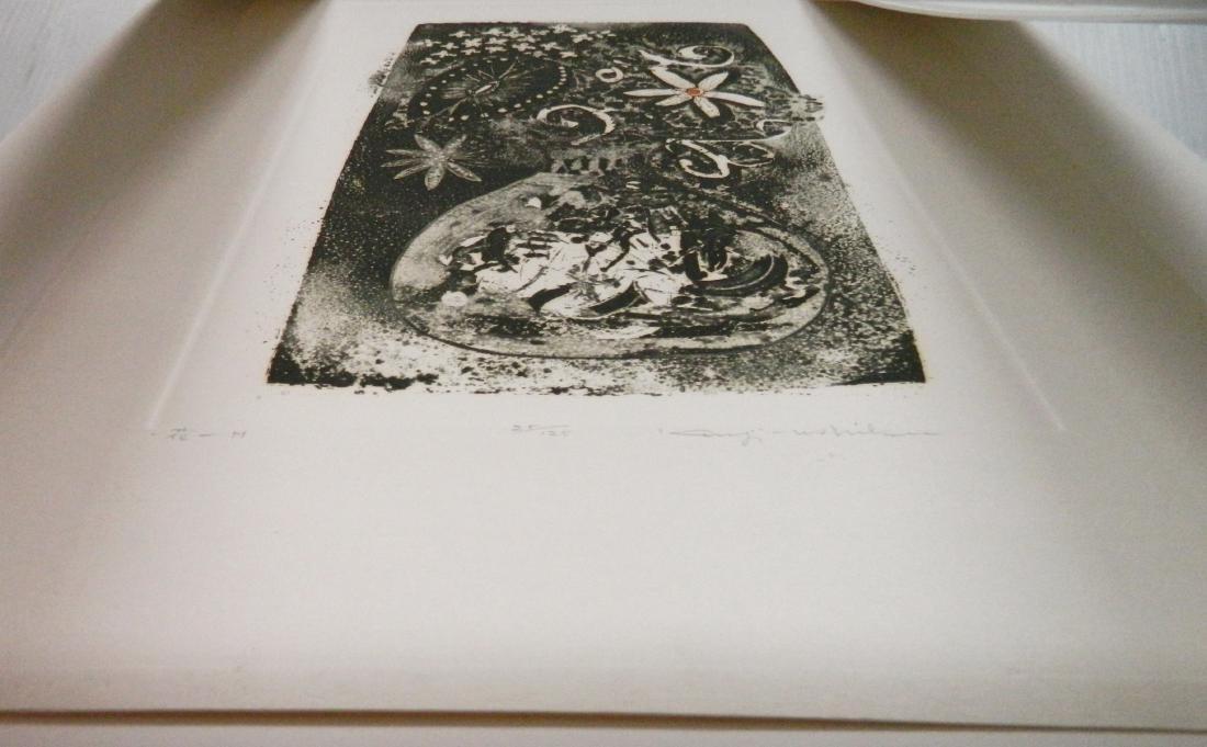 Kenji Ushiku 2 etchings - 6