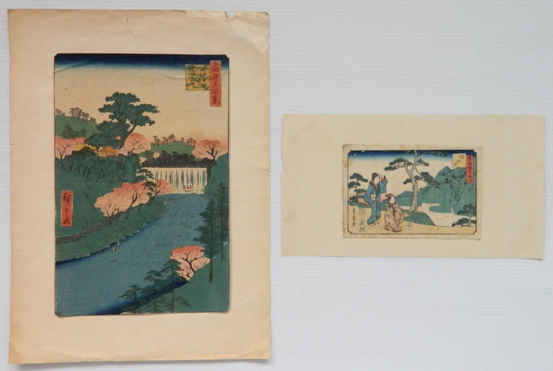 Hiroshige Utagawa 2 woodblocks