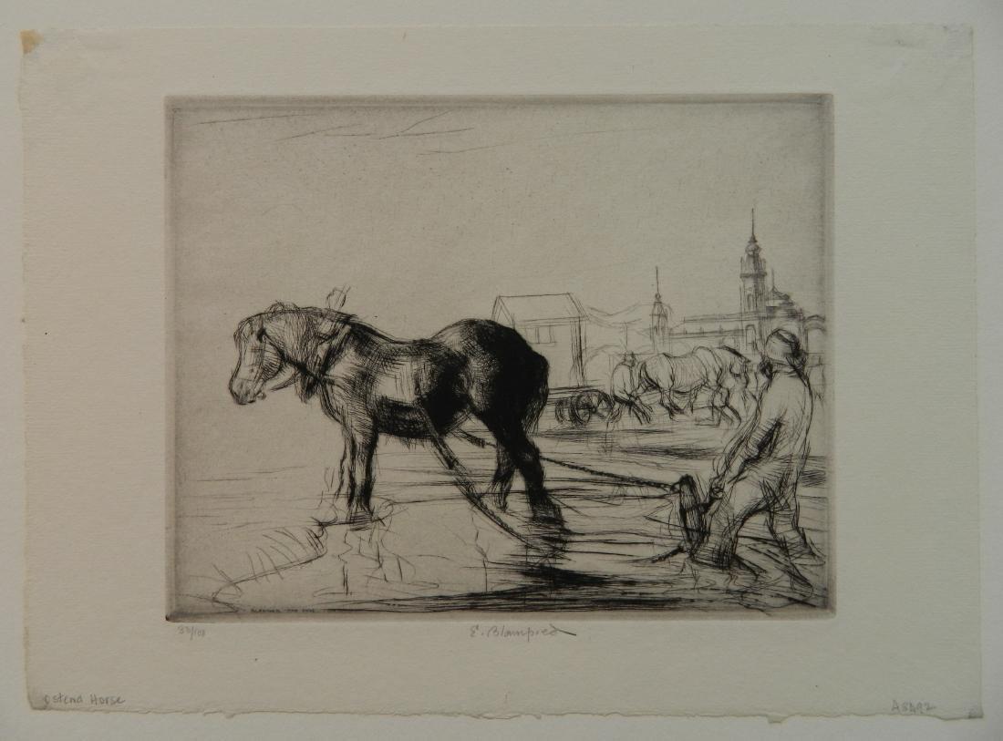 Edmund Blampied etching - 2