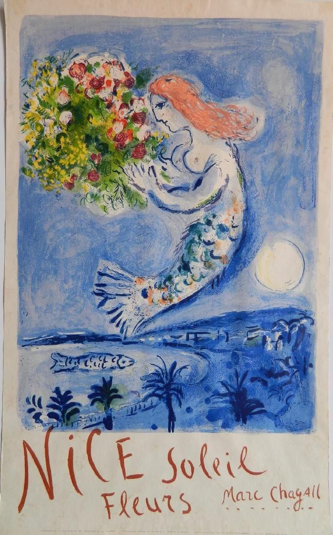 after Marc Chagall lithographic travel poster