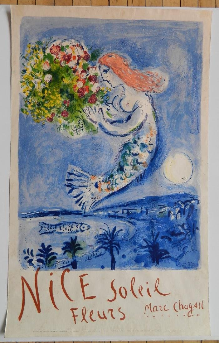 after Marc Chagall lithographic travel poster - 2