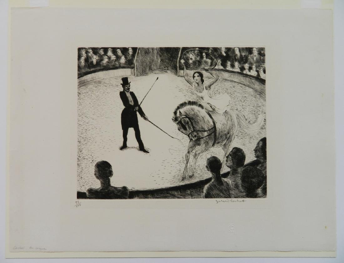 Gerard Cochet etching - 2