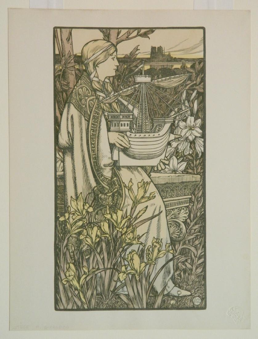 Adolph Giraldon lithograph - 2