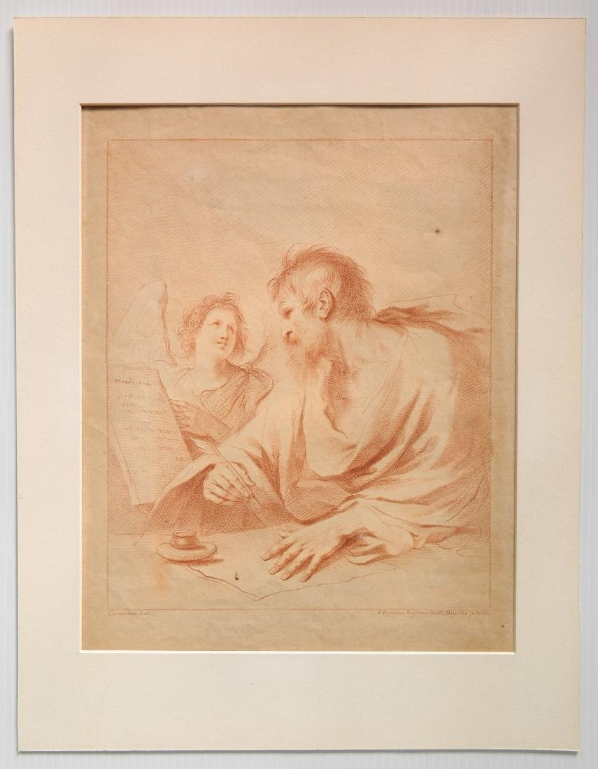 after Guercino stipple engraving - 2