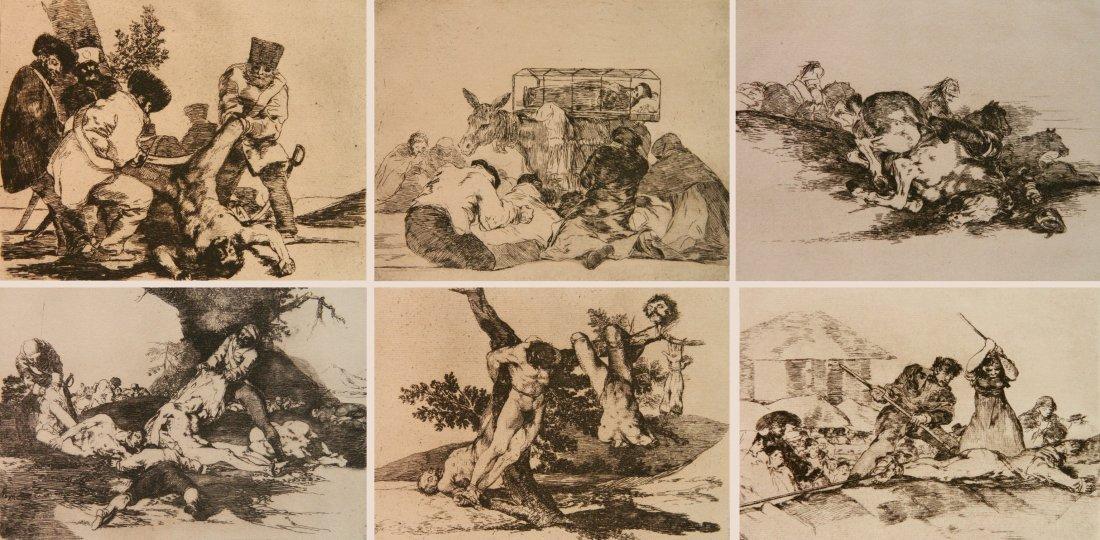 Francisco Goya 6 etchings