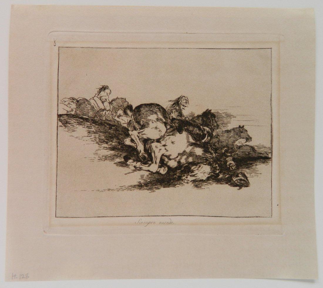 Francisco Goya 6 etchings - 5