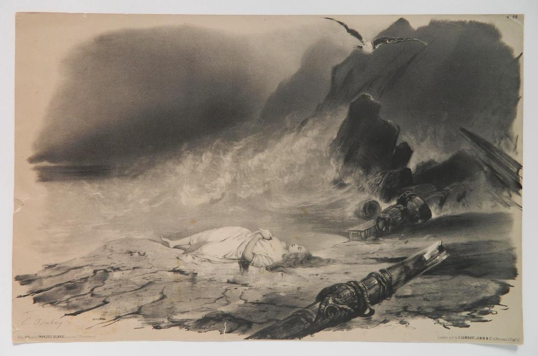 Eugene Isabey lithograph - 2