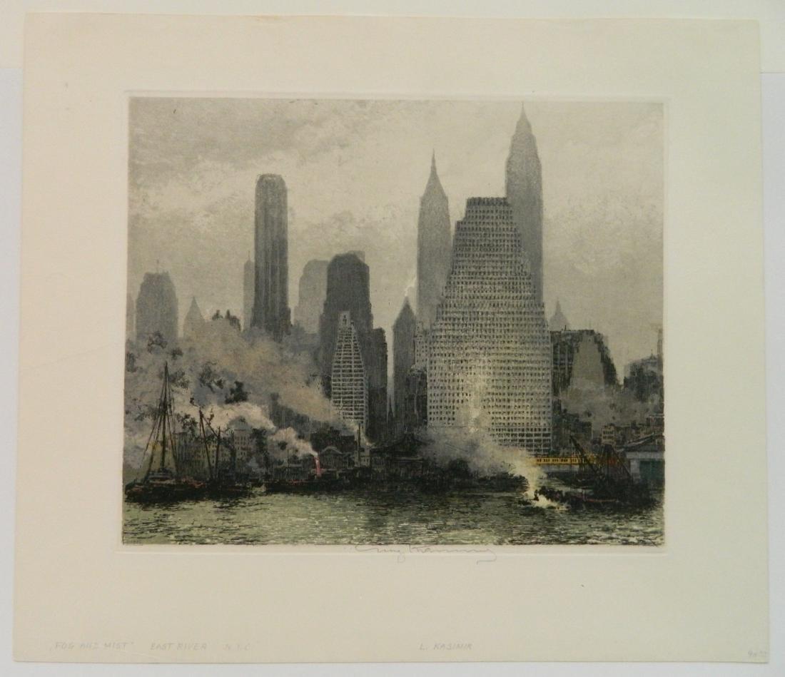 Luigi Kasimir etching - 2