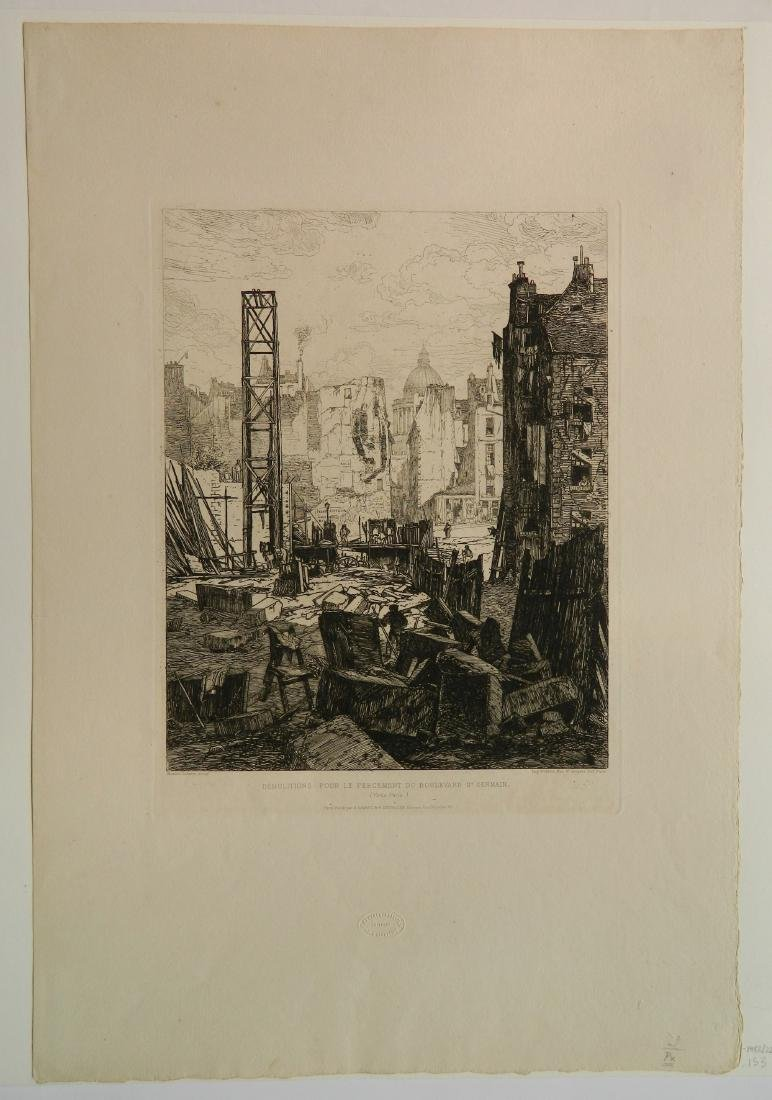 Maxime Lalanne etching - 2