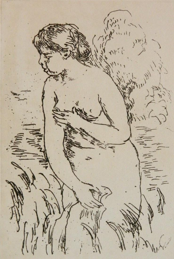Pierre Auguste Renoir 1 lithograph and 1 etching - 2