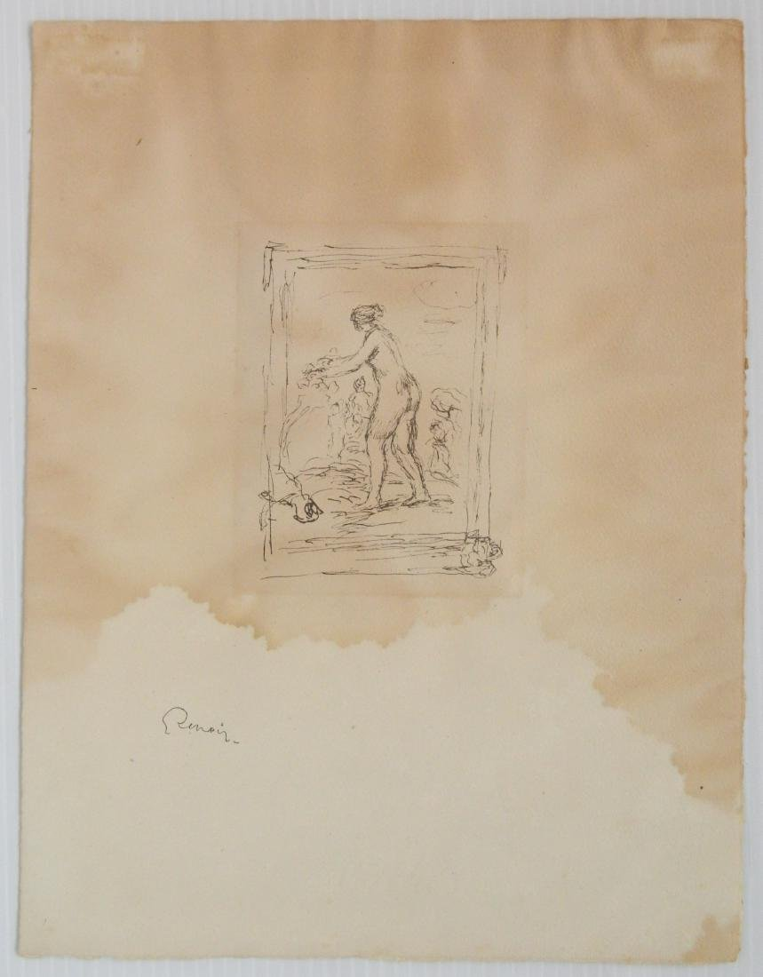 Pierre Auguste Renoir 1 lithograph and 1 etching - 5