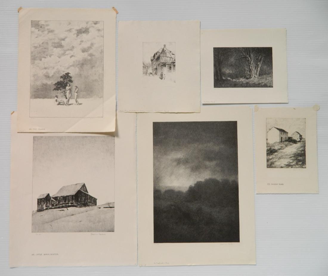 Albert Barker 6 lithographs